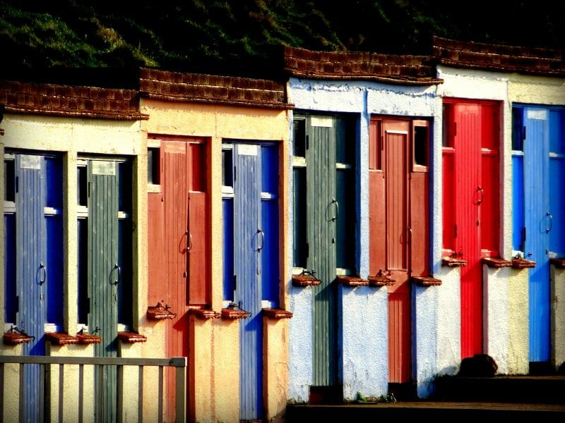 Crooklets Steps Beach Huts