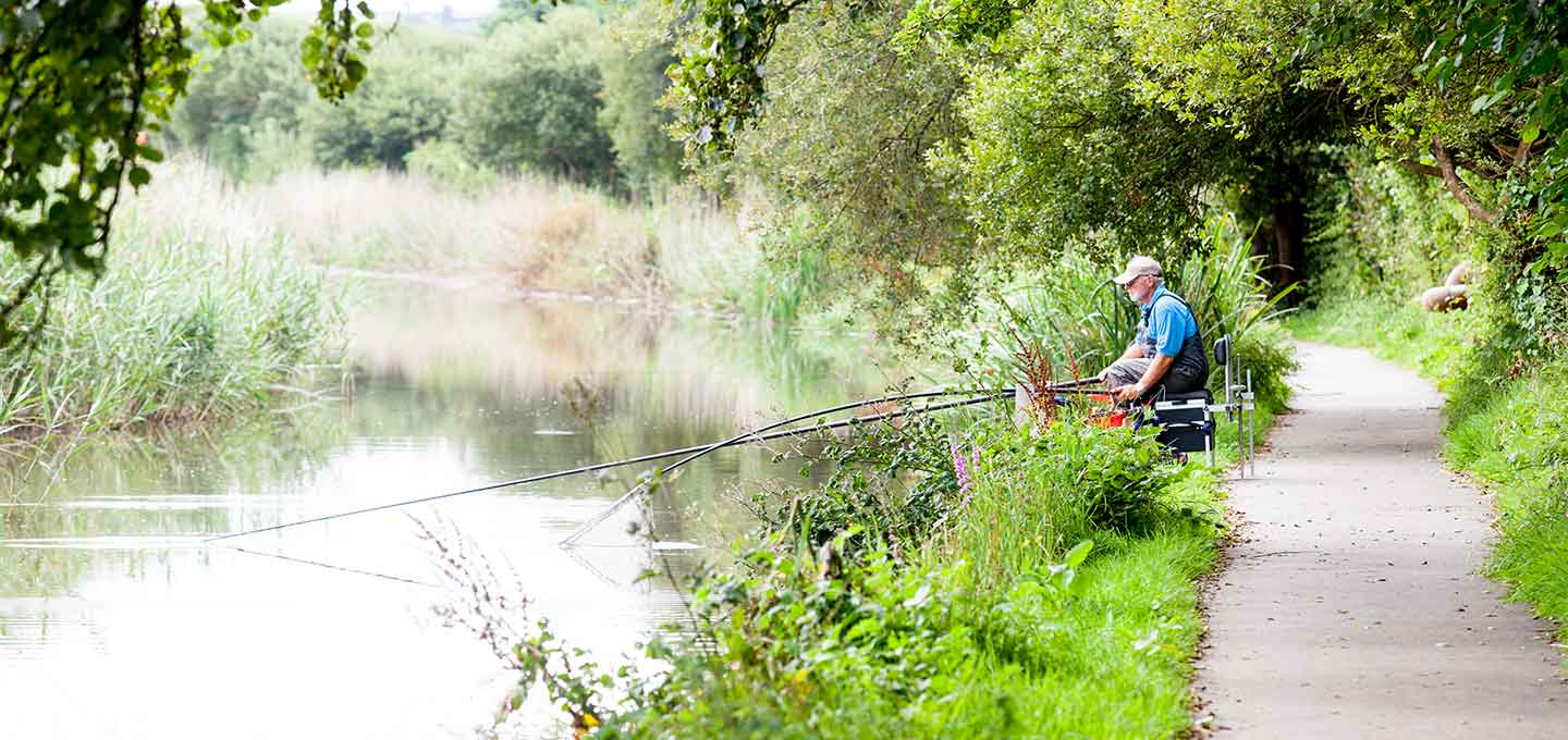 Fishing on the Bude Canal