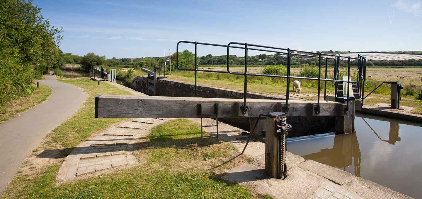 Bude canal lock gate