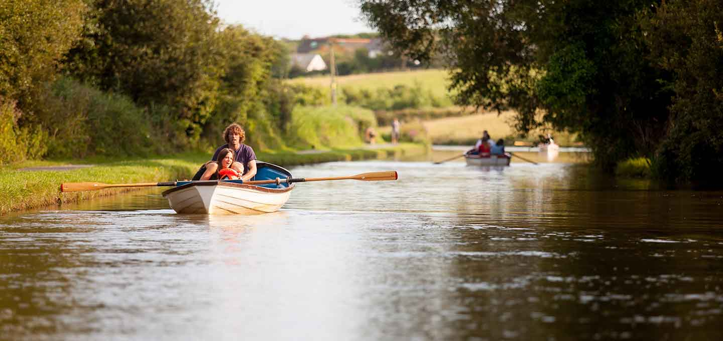 Rowing boat on the Bude Canal