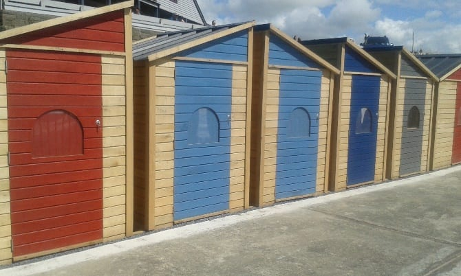 Upper terrace beach huts