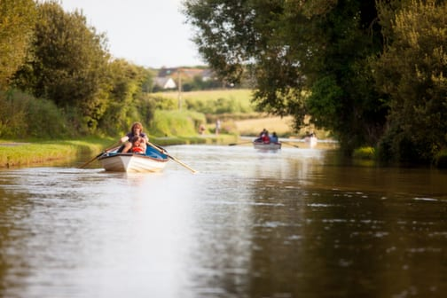 Rowing on the Bude Canal