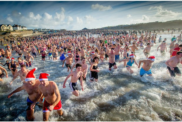Bude Christmas Day Swim Image (c) Bob Willingham, Studio South West, Bude